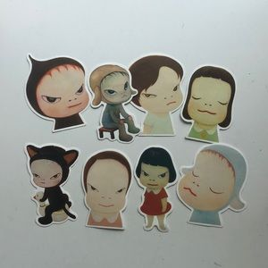 Set of 8 Yoshitomo Nara Stickers